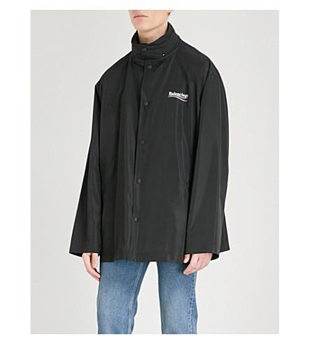BALENCIAGA Archetype branded-print shell jacket (Noir