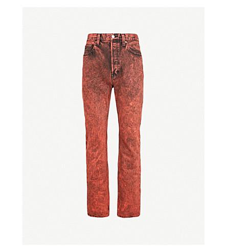BALENCIAGA Regular-fit straight jeans (90s blck ornge snow