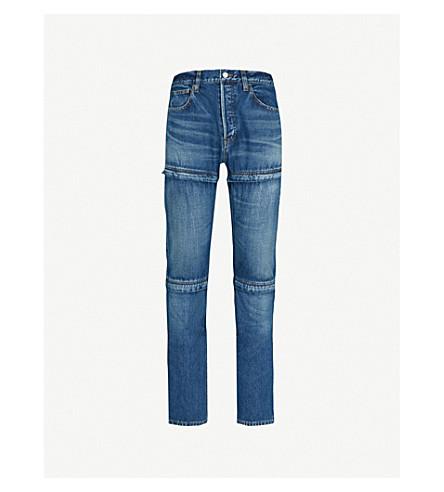 BALENCIAGA Japonais regular-fit straight jeans (Dirty+dark+blue