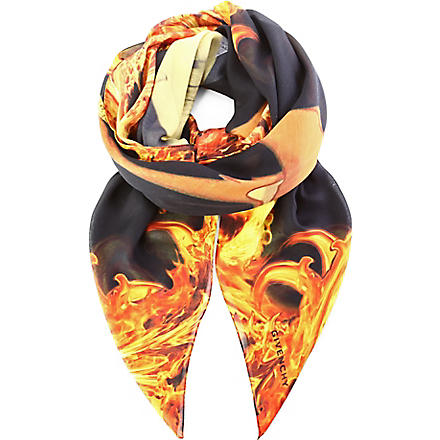 GIVENCHY Bambi in flames scarf (Black