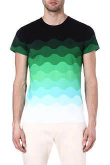 JONATHAN SAUNDERS Ombre wave cotton t-shirt