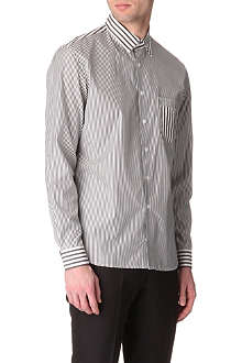 JONATHAN SAUNDERS Contour-striped single-cuff shirt