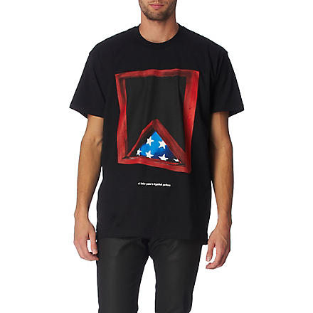 GIVENCHY Triangle-print t-shirt (Black