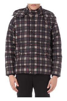 GIVENCHY Check print quilted coat