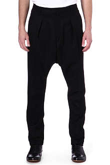 GIVENCHY Drop-crotch flannel trousers