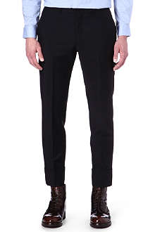 GIVENCHY Slim-fit stitched turn-up trousers