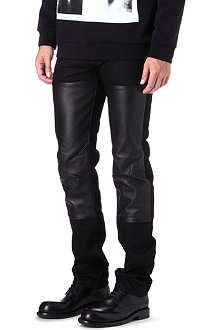 GIVENCHY Slim leather panel jeans