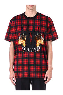 GIVENCHY Check and Doberman t-shirt