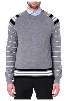 GIVENCHY Striped-sleeve jumper