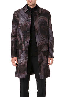 GIVENCHY Textured Madonna-print coat