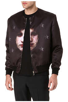 GIVENCHY Madonna star satin bomber jacket