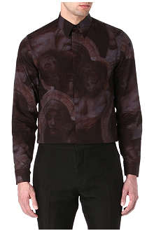 GIVENCHY Madonna-print single-cuff shirt