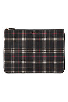 GIVENCHY Check pouch