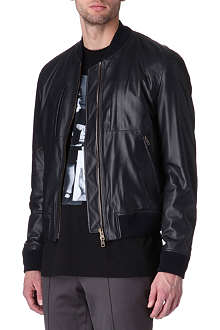 GIVENCHY Leather bomber jacket