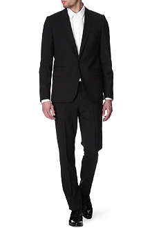 GIVENCHY Peak-lapel mohair black suit