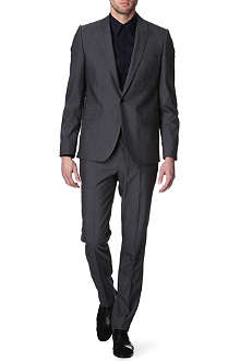 GIVENCHY Peak-lapel mohair grey suit