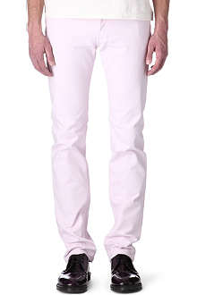 GIVENCHY Ice-pink slim-fit straight jeans