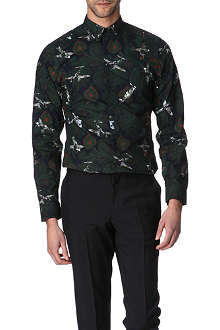 GIVENCHY Paisley and spitfire-print single cuff shirt
