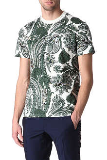 GIVENCHY Paisley and plane-print t-shirt