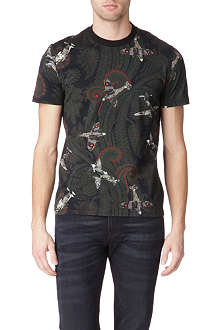 GIVENCHY Paisley and Spitfire print t-shirt
