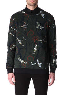 GIVENCHY Paisley and spitfire-print sweatshirt