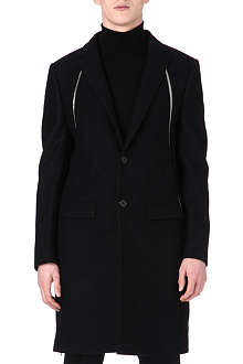 GIVENCHY Zip panel wool-blend coat