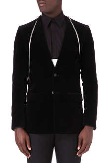 GIVENCHY Zip detail velvet jacket