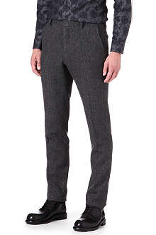 GIVENCHY Slim-fit herringbone trousers