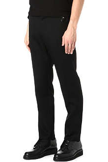 GIVENCHY Slim-fit belt detail trousers