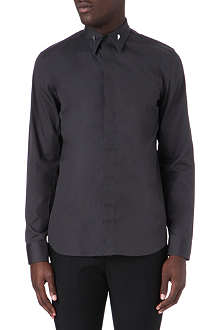 GIVENCHY Gold-toned bar-collar shirt