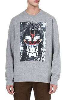 GIVENCHY Tribal face sweatshirt