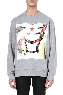 GIVENCHY Racing mask sweatshirt