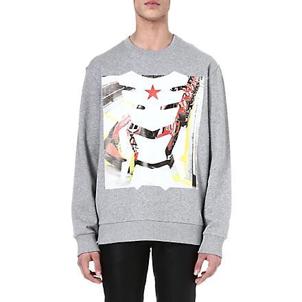 GIVENCHY Racing mask sweatshirt (Grey