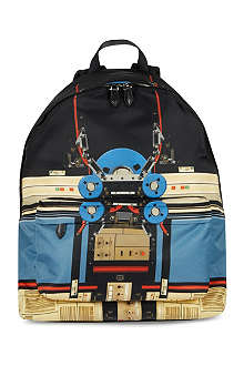 GIVENCHY Robot print backpack