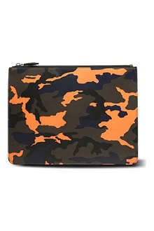 GIVENCHY Camo print leather pouch