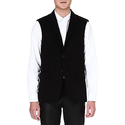 GIVENCHY Military tailored waistcoat (Black