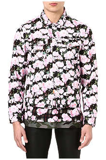 GIVENCHY Rose-print denim jacket