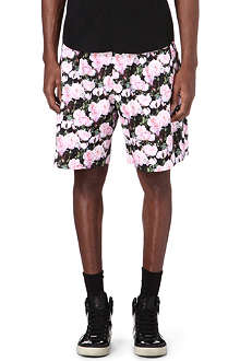 GIVENCHY Rose-print shorts