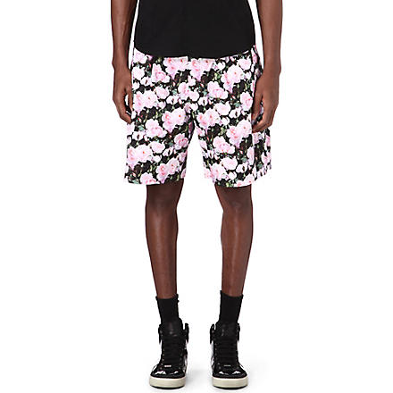 GIVENCHY Rose-print shorts (Pink