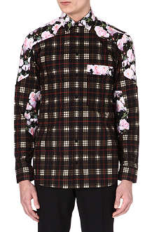 GIVENCHY Rose-panel checked shirt