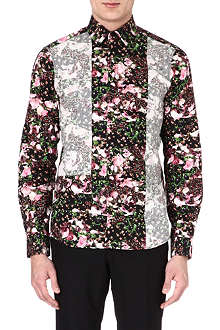 GIVENCHY Floral-printed patchwork shirt