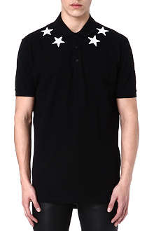 GIVENCHY Stars numbers polo shirt