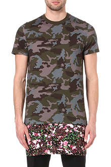 GIVENCHY Camo rose long t-shirt