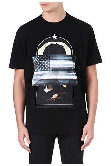 GIVENCHY Shark Flag Madonna print t-shirt