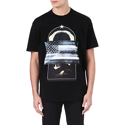GIVENCHY Shark Flag Madonna print t-shirt (Black