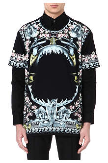 GIVENCHY Mermaid shark rose t-shirt