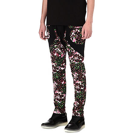 GIVENCHY Roses panel harem pants (Black/pink