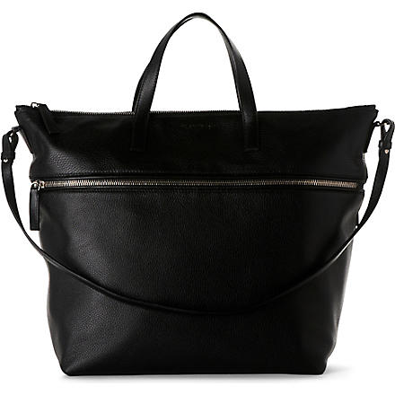 JIL SANDER Grained-leather bag (Black