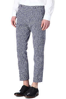 JIL SANDER Andriano slim-fit hex-print trousers