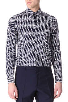 JIL SANDER Hex-print single-cuff shirt